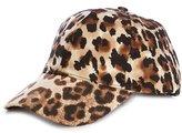 Natasha Accessories Leopard-Print Baseball Cap