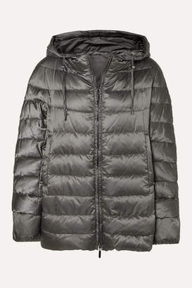Max Mara The Cube Hooded Quilted Shell Down Coat - Gray