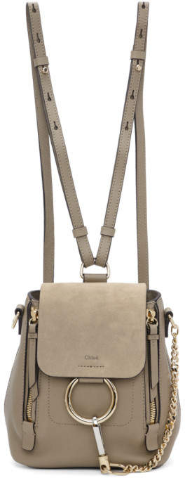 Chloé Grey Mini Faye Backpack
