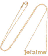 Jennifer Meyer Je T'aime 18-karat Gold Necklace - one size