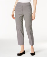 Alfred Dunner Petite City Life Checkered Pull-On Cropped Pants