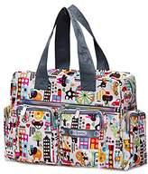 SODIAL(R) Women casual fashion print waterproof nylon bag shoulder messenger bag handbags women's size 31 * 22 * 11.5 cm Style 11