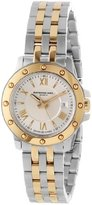"""Raymond Weil Women's 5399-STP-00657 """"Tango"""" Stainless Steel and 18k Gold Watch"""