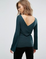 Asos Jumper With Cross Back In Rib