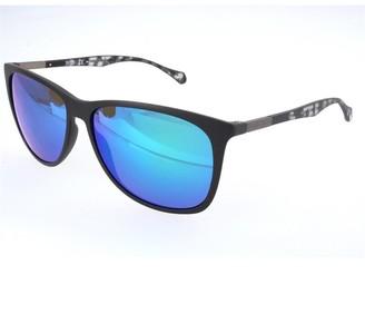 HUGO BOSS Mens Sunglasses Black Transparent Grey Black Havana