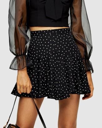 Topshop Star Flounce Mini Skirt