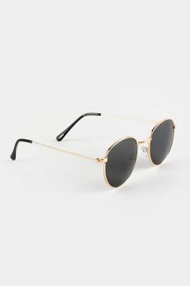 francesca's Jaxx Mini Round Frame Sunglasses - Gold