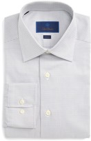 David Donahue Men's Slim Fit Check Dress Shirt