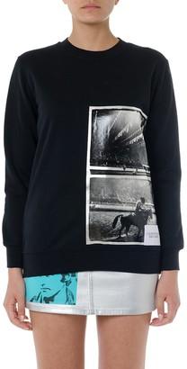 Calvin Klein Jeans Black Printed Bland Cotton Sweatshirt