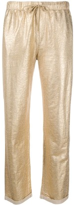 Majestic Filatures Shimmering Straight-Leg Trousers