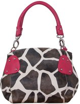 Gravity Giraffe Print Faux Leather Satchel Bag Handbag Purse