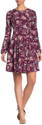 Velvet Torch Short Sleeve Floral Dress
