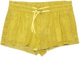 Helmut Lang Yellow Leather Shorts