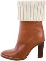 Michael Kors Leather Mid-Calf Boots