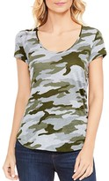 Vince Camuto Avenue Camo Print High Low Tee