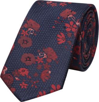 yd. Navy/Red Xavier Floral 6.5cm Tie
