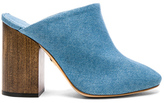 Brother Vellies Denim Bianca Mules in Blue.