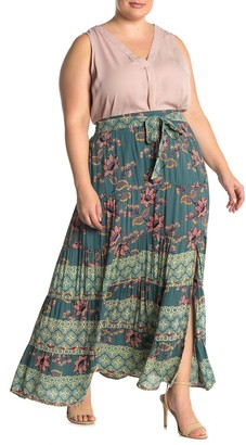 Angie Floral Maxi Skirt (Plus Size)