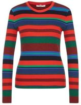 Hugo Boss Eriba Cotton Ribbed Striped Sweater S Patterned
