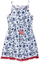 Lucky Brand Fringe Trim Floral Dress (Big Girls)