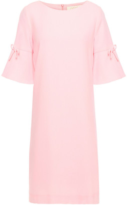 Goat Irinna Bow-embellished Wool-crepe Mini Dress