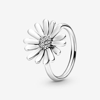 Pandora Pave Daisy Flower Statement Ring