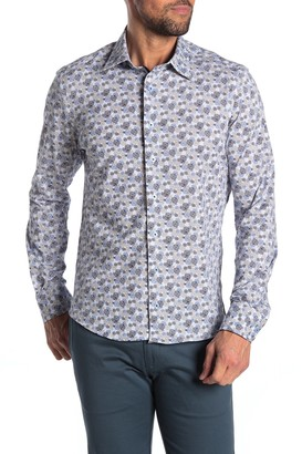 Stone Rose Long Sleeve Knit Button-Down Shirt