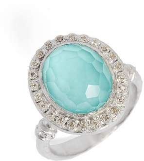 Armenta New World Diamond & Turquoise Ring
