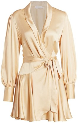 Zimmermann Super 8 Mini Silk Wrap Dress