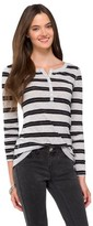 Mossimo Women's Long Sleeve Henley Shirt Juniors')