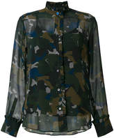 Paul Smith semi-sheer camouflage shirt