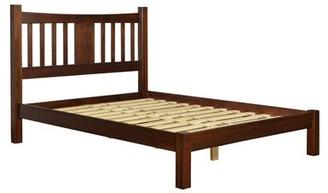Grain Wood Furniture Shaker Platform Bed Color: Cherry, Size: Queen