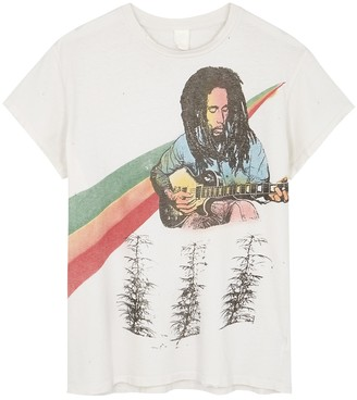 MadeWorn Bob Marley Printed Cotton T-shirt