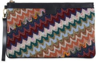 Missoni Multicolor Stripe Clutch W/ Lurex