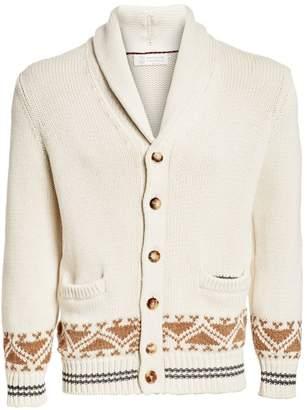 Brunello Cucinelli Fairisle Wool-Blend Cardigan Sweater