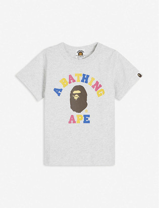 A Bathing Ape College branded cotton T-Shirt 2-9 years