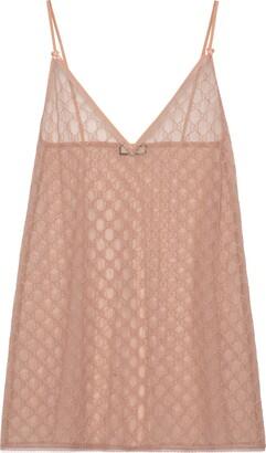 Gucci GG tulle lingerie dress
