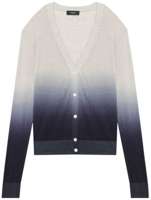 Theory Ombre Linen-Blend Cardigan