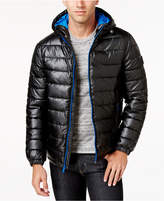 Cole Haan Men's Faux-Leather Puffer Coat