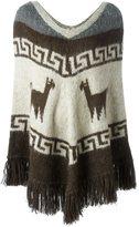 P.A.R.O.S.H. 'Lima' knitted poncho - women - Acrylic/Polyamide/Alpaca - S