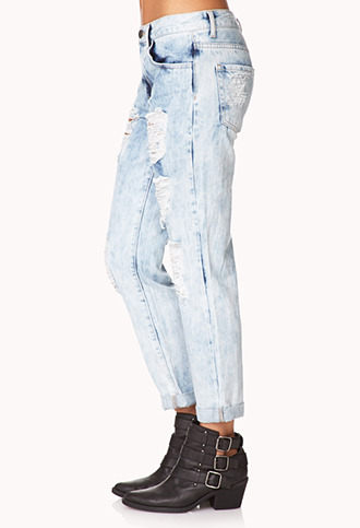 Forever 21 Rebel Bleached Boyfriend Jeans
