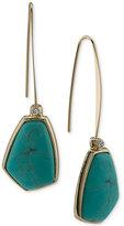 Lauren Ralph Lauren Gold-Tone Blue Stone Wire Drop Earrings