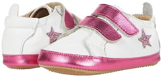 Old Soles Star Markert (Infant/Toddler) (Snow/Fuchsia Foil/Glam Pink) Girl's Shoes