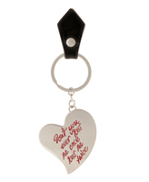 Vivienne Westwood Anglomania Heart Key Ring 390070 Black Size H 7cm x W 6.5cm