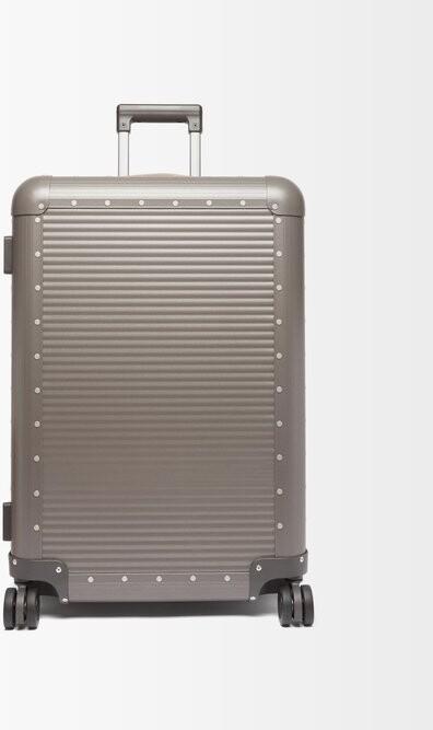 FPM Milano Spinner 68 Stud-embellished Suitcase - Grey