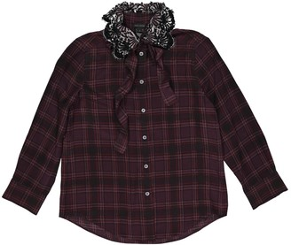Marc Jacobs Burgundy Silk Top for Women