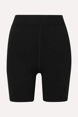 Alexander Wang Appliquéd Stretch-jersey Shorts - Black