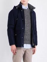 Brunello Cucinelli Ribbed-trim wool-blend coat