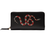 Gucci Snake-print leather wallet