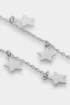 francesca's Ashleigh Star Charm Linear Earrings - Silver